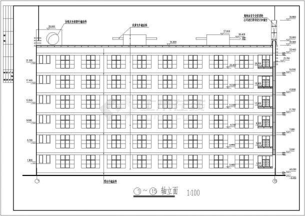 南宁某地区中学教学楼框架结构设计图纸-图二