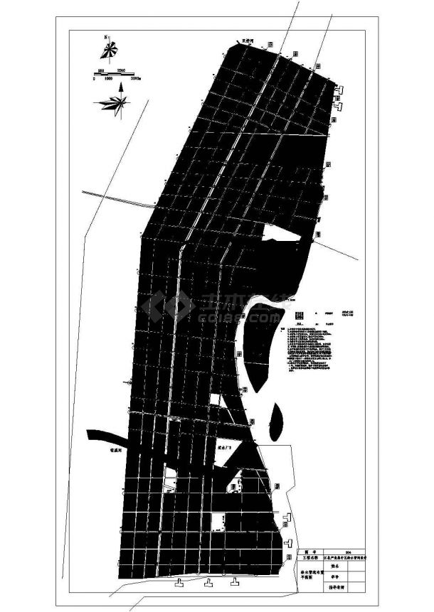 马鞍山江北产业集中区市政给水管网平面布置(毕业设计图)-图二