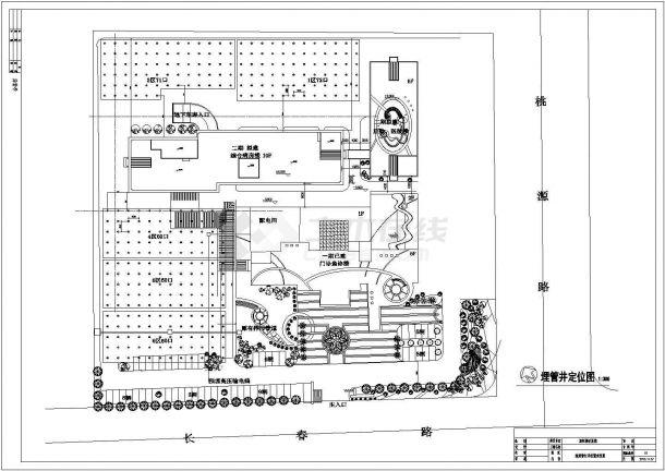 地源热泵机房+室外地埋管井布置全套设计图-图一