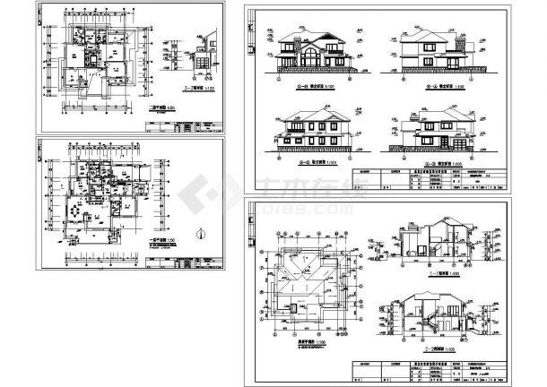 2层小别墅室内装修图纸带效果图-图一
