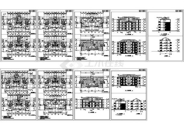 河北公寓住宅楼完美建筑施工设计方案图-图一