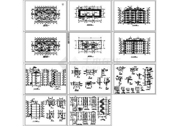 安徽公寓住宅楼精美建筑施工设计方案图-图一