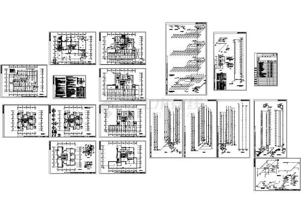 某地长56.54米 宽39米 -1+24层公寓住宅楼给排水设计CAD图-图一