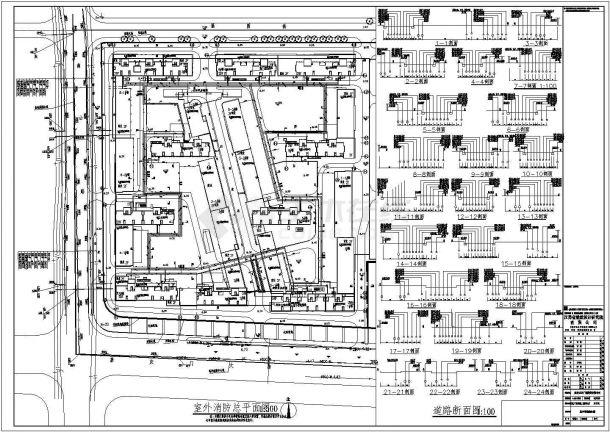 南京万达广场西地二街区A区室外管线综合图-图一