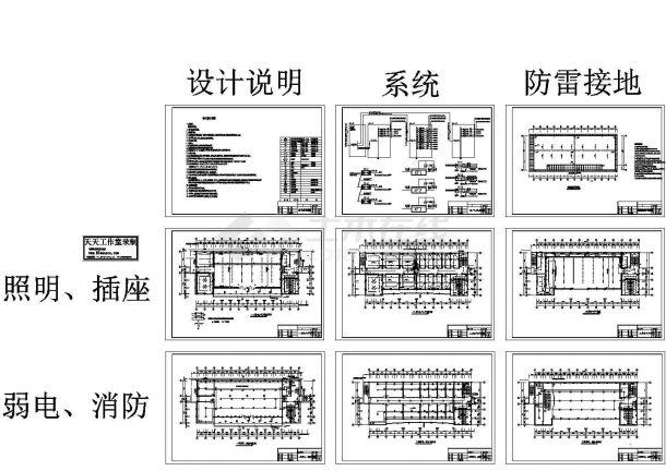 湖北通城警官培训中心电气施工图-图一