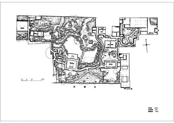 苏州园林代表作之怡园cad平面图-图一