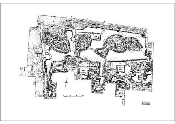 苏州园林拙政园景观规划设计平面图纸-图一