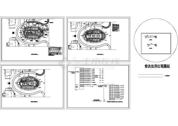 小区入口环境建筑设计施工图图纸-图一