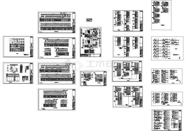 高档住宅配电系统设计cad图,共十七张-图一