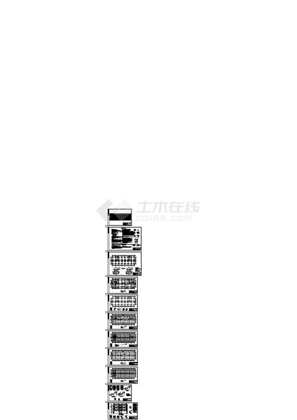 【3层】2946.69平米框架结构综合楼毕业设计(计算书、结构图)-图一