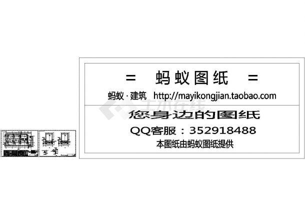 广州某电厂循环水泵房安装CAD图-图一