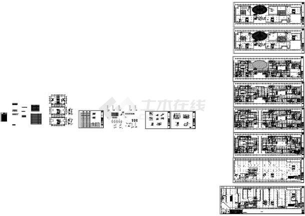 十分详细的一套大型商场空调通风施工图纸-图一