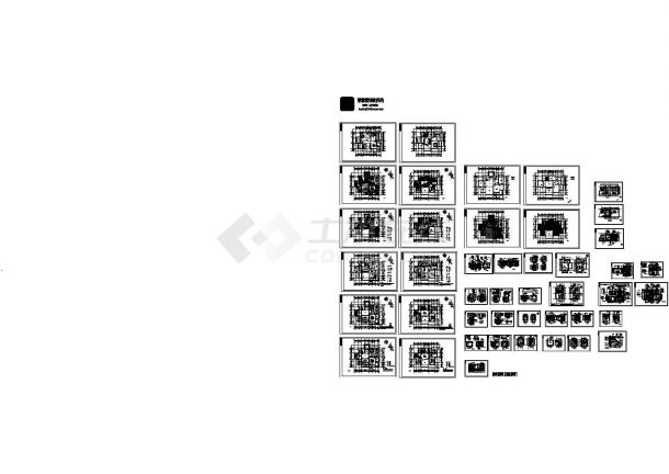 整套欧式别墅设计装修设计cad图,含设计说明-图一