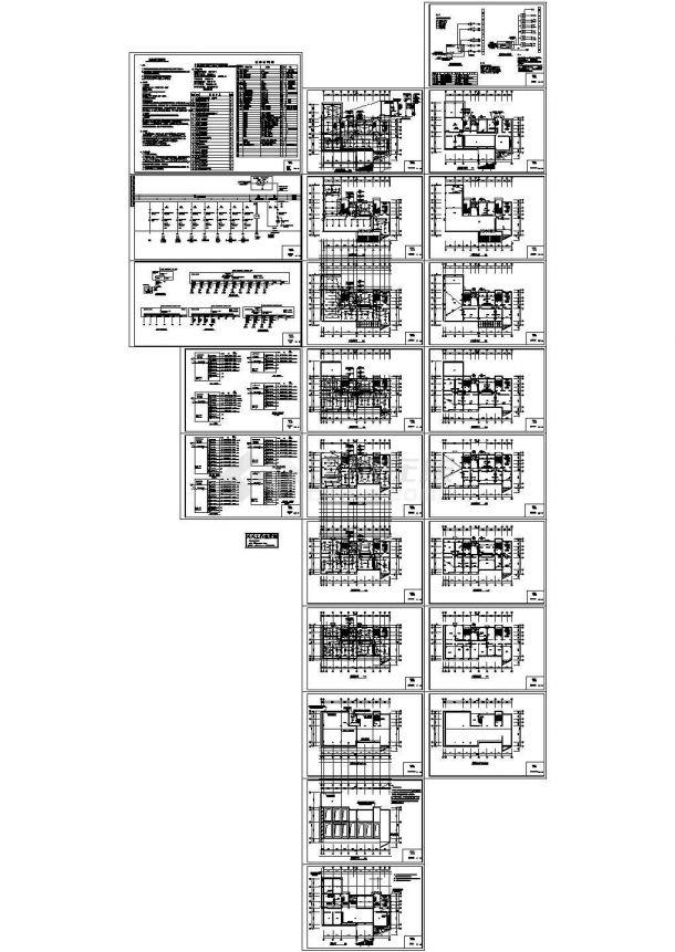 某环保局电气办公楼图纸CAD图-图一