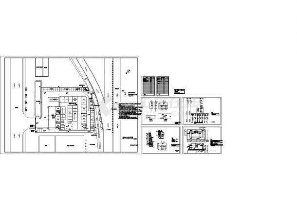 某汽车4S店电气设计图纸-图一