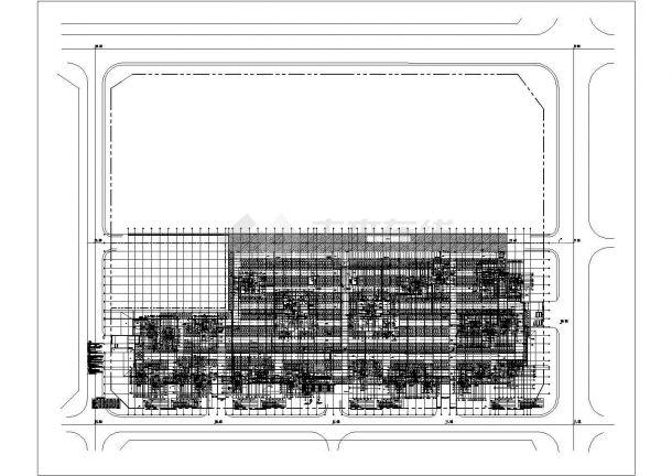某小区地下室给排水消防平面图及防火分区示意图-图一