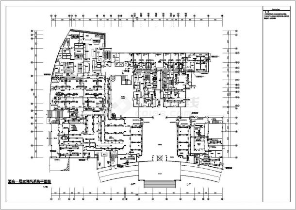 某地二十三层酒店离心电动制冷机组暖通空调设计施工图纸-图一