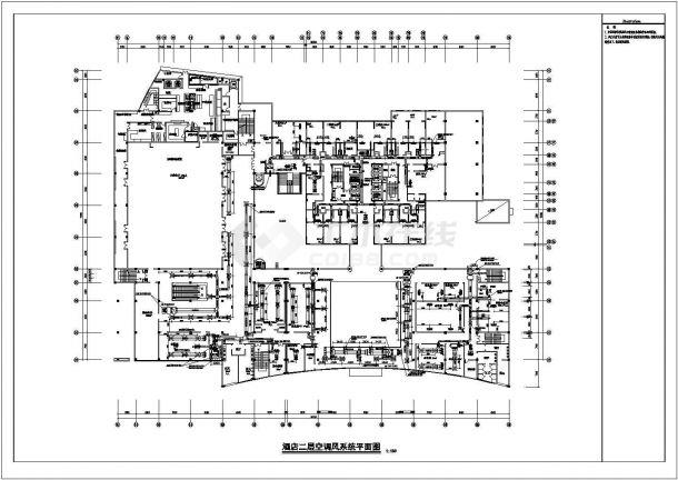 某地二十三层酒店离心电动制冷机组暖通空调设计施工图纸-图二