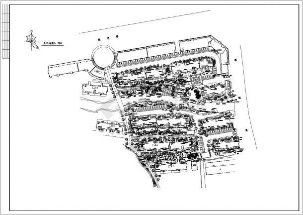 某花苑绿化建筑总平面图-图一