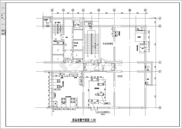 直燃双效溴化锂吸收式制冷机组冷冻设计图纸-图二