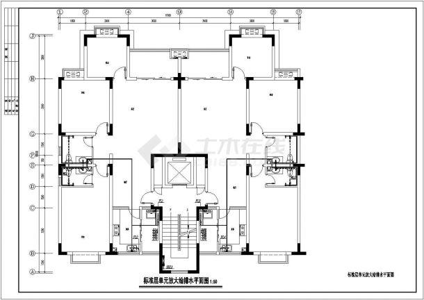 某地11层小高层住宅给排水平面系统图-图一