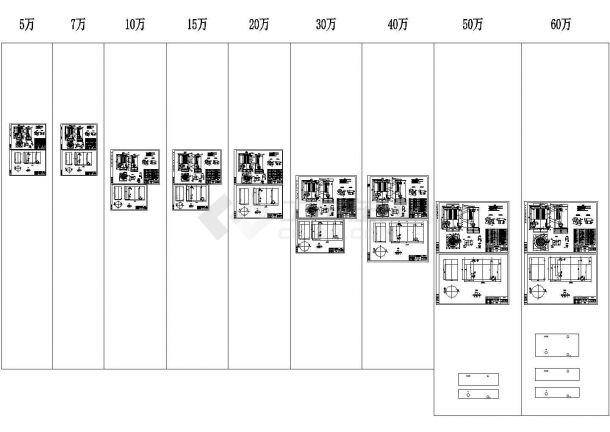 立式燃油热水锅炉5万大卡-60万大卡全套cad图纸(标注详细)-图一