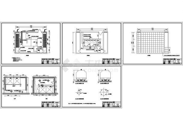 300KW发电机环保机房CAD图(开式)-图一