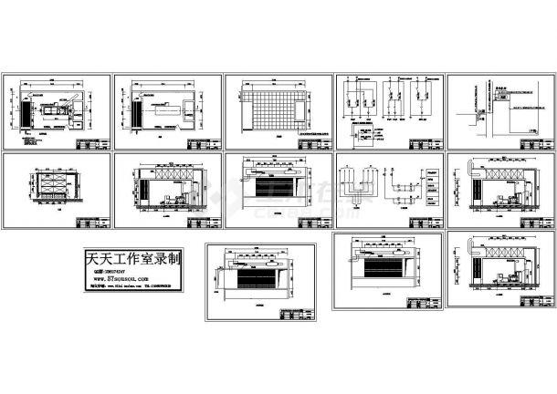 300KW发电机环保机房CAD图-图一