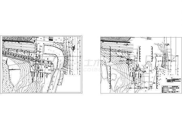 南方某城市水电站厂房全套设计CAD施工图-图一