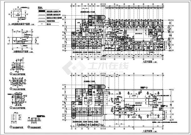 10层医院建筑设计CAD施工图-图一