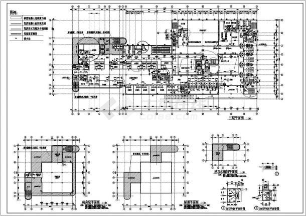 10层医院建筑设计CAD施工图-图二