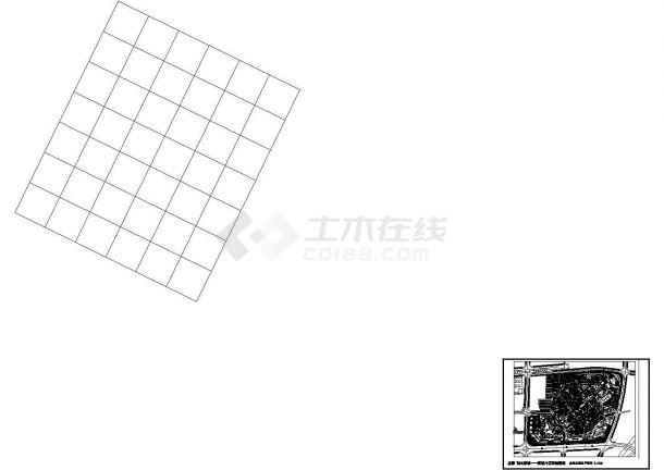阳光小区规划建筑设计施工图-图一