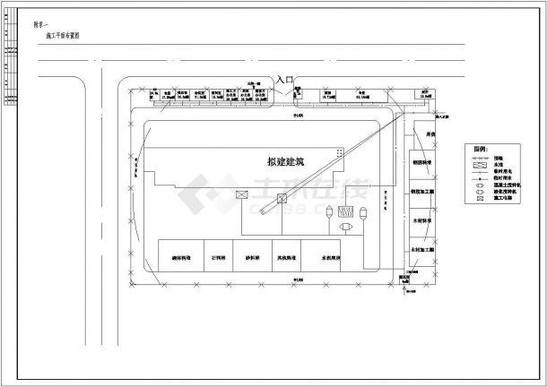 【6层】学生公寓楼全套毕业设计(横道图,网络图,布置图等)-图一