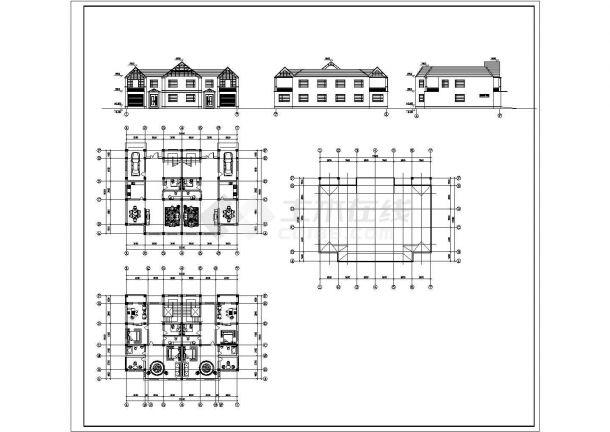 二层小别墅建筑方案设计图纸-图一