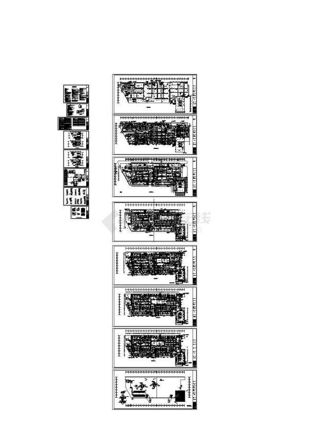 [合肥]大型商场空调通风设计施工暖通图纸(冷冻机房设计)-图一