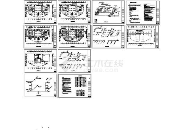 [北京]商业建筑空调及通风系统设计暖通施工图(水冷式冷水机组)-图一