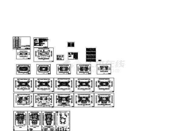 某综合楼空调和通风防排烟设计施工CAD图纸(含设计施工说明,设备表)-图一