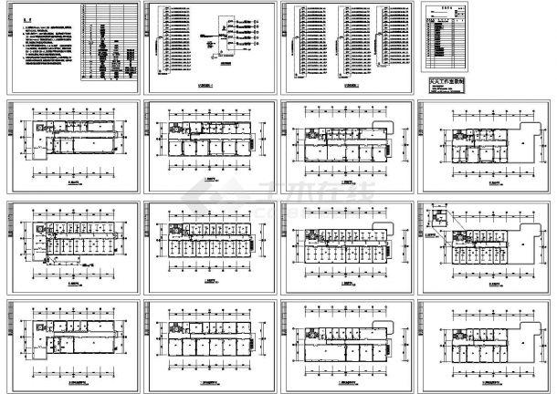 四层住宅建筑电气施工图,共15张-图一