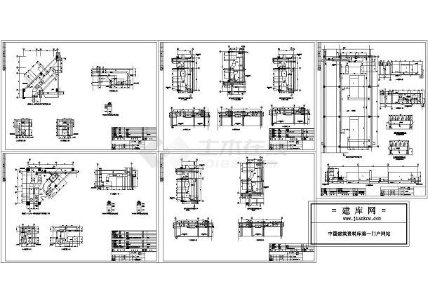 某行政办公大楼风冷热泵系统设计cad施工图(标注详细)-图一