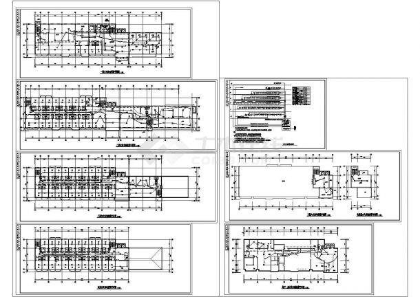 某疗养院全套电气消防设计图-图一
