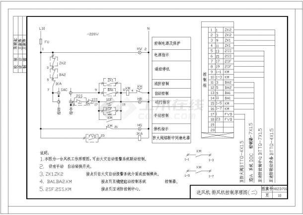 中南地区通用建筑标准设计常用电气控制原理图-图一