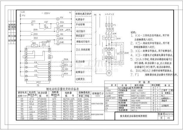 中南地区通用建筑标准设计常用电气控制原理图-图二
