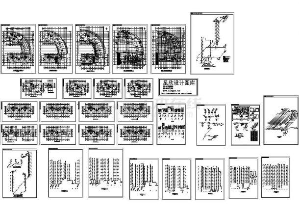 高层住宅楼的给排水施工设计cad图,共一张-图一