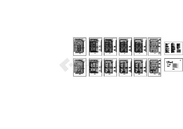 [湖北]多层商场建筑空调通风系统设计暖通施工图(风冷模块机组)-图一