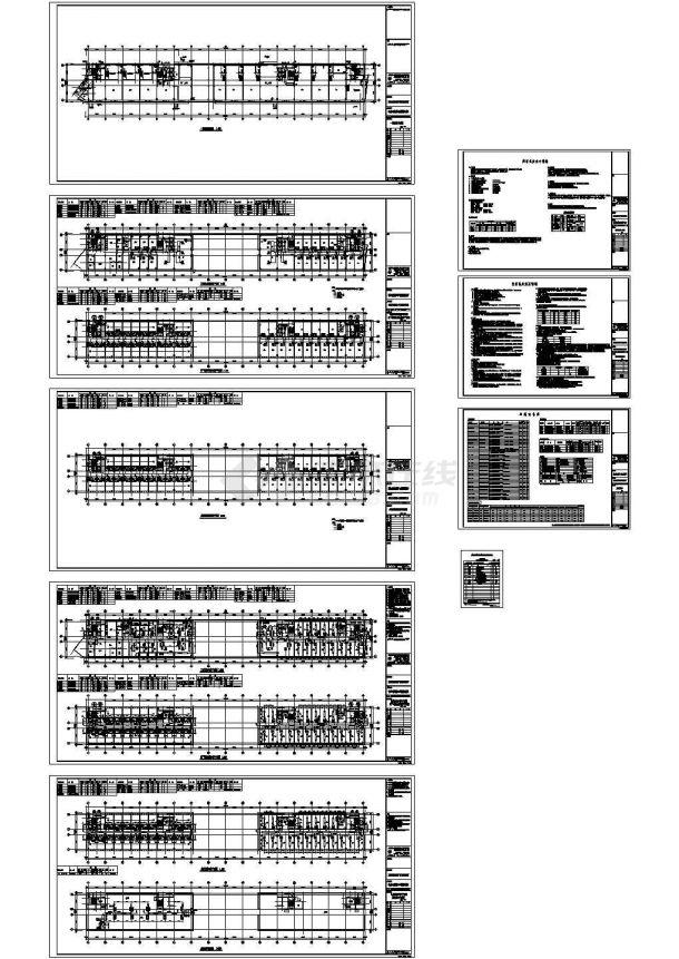 某15526平方米新农村建设住宅楼暖通设计cad施工图(含设计说明)-图一