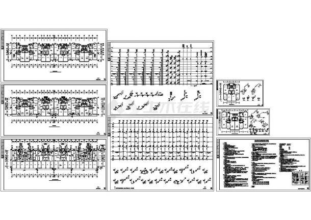 -1+6层(1梯2户4户4单元)砖混小区住宅楼给排水施工图(含设计说明)-图一