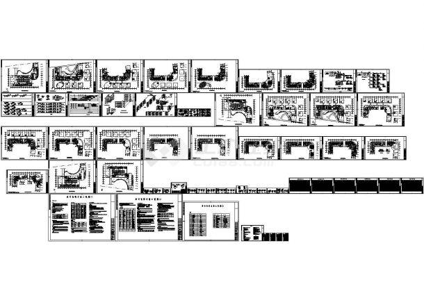 最新整理的酒店暖通空调设计方案CAD设计图-图一