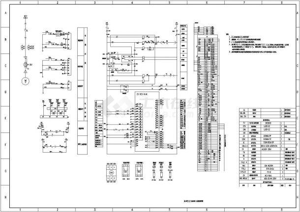 工厂高压电机保护、变压器保护、线路保护、母联保护等二次原理图-图一
