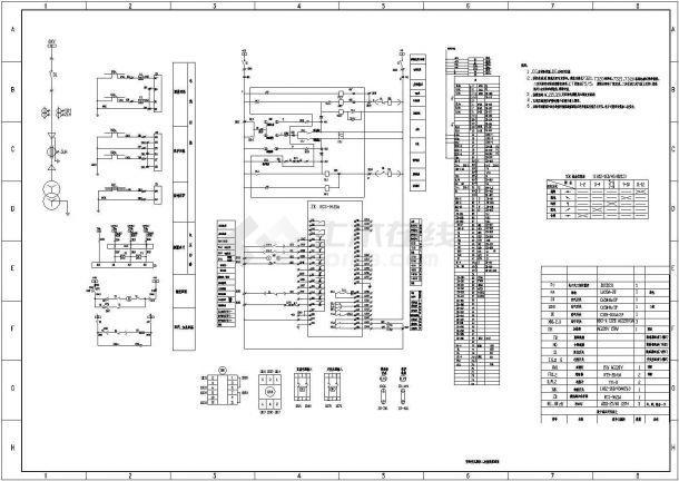 工厂高压电机保护、变压器保护、线路保护、母联保护等二次原理图-图二