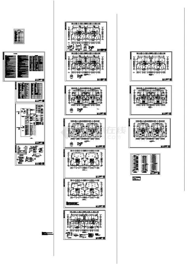 小高层住宅电气施工图,共15张-图一